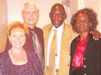 Pastor Leo Strathman and Donna with Apostle Amos Ouma Juma and Rhoda in Africa